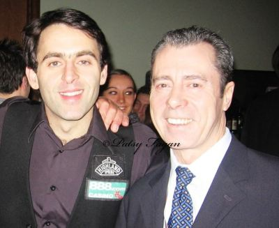 5 times World Snooker Champion Ronnie O'Sullivan and 1977 UK Snooker Champion Patsy Fagan